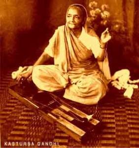 Kasturi Gandhi wife of Mahatma Gandhi